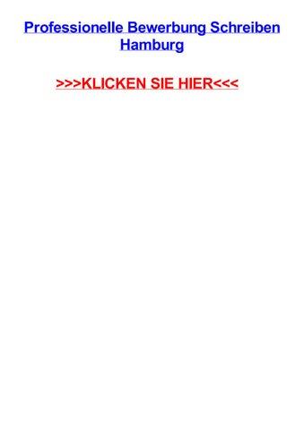 Professionelle Bewerbung Schreiben Hamburg By Triciawouv Issuu