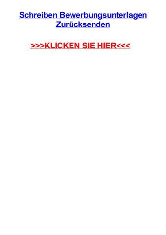 Schreiben Bewerbungsunterlagen Zurjcksenden By Markdmhl Issuu