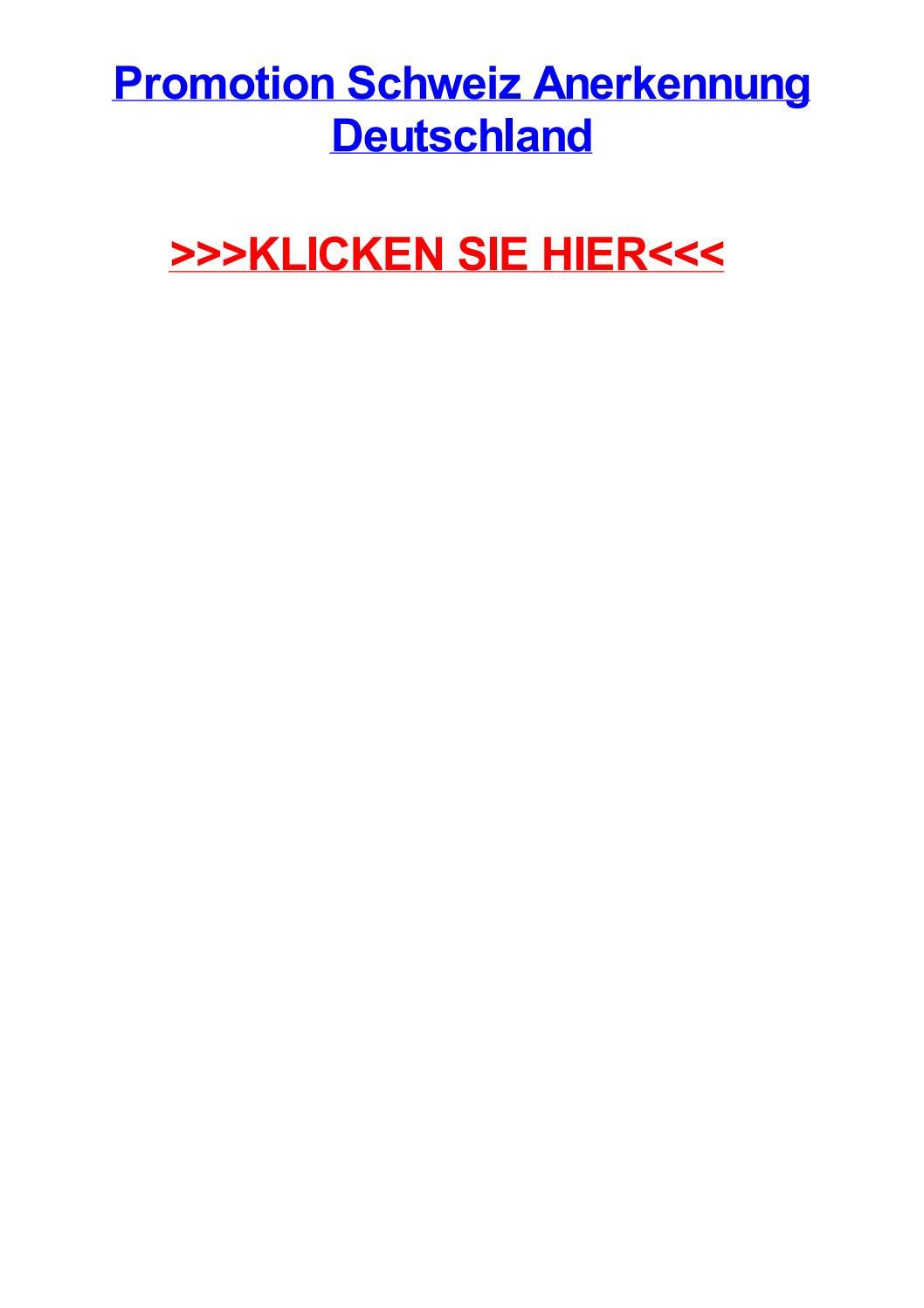 Promotion schweiz anerkennung deutschland by alvinbqbg - issuu