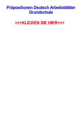 Prpositionen deutsch arbeitsbltter grundschule by keokilplii - issuu