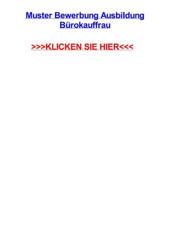 Muster bewerbung ausbildung bjrokauffrau by carriegzbn - issuu