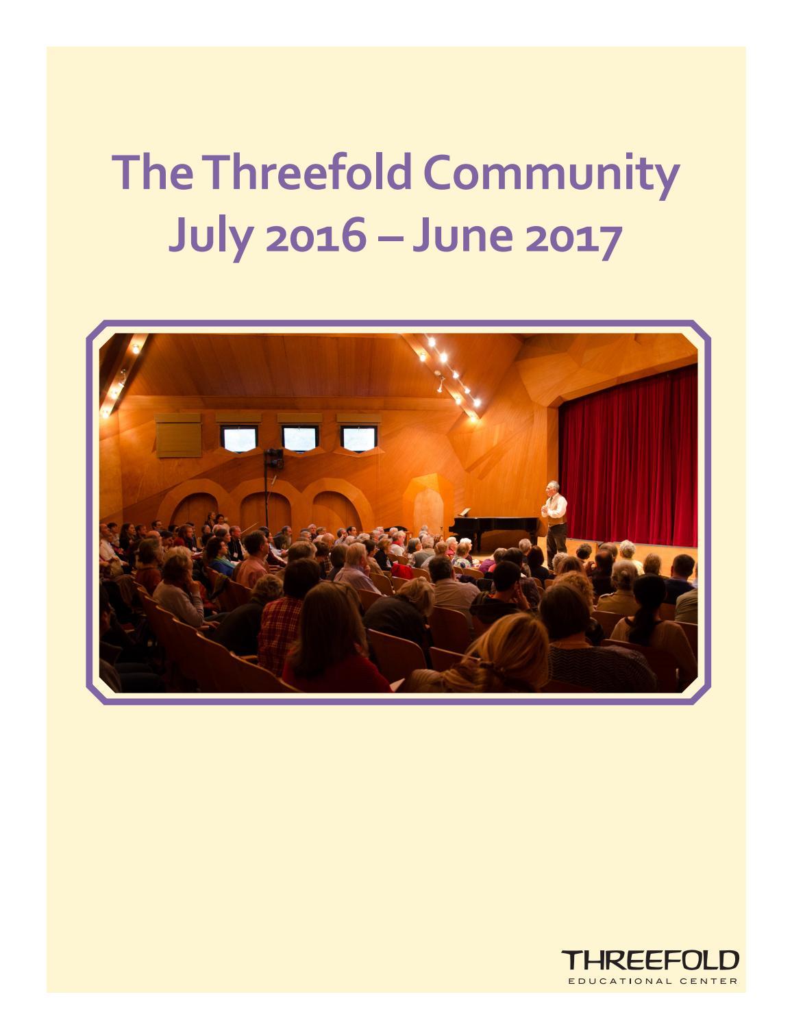 Threefold community 2016-17 by Michael William Sweeney - issuu