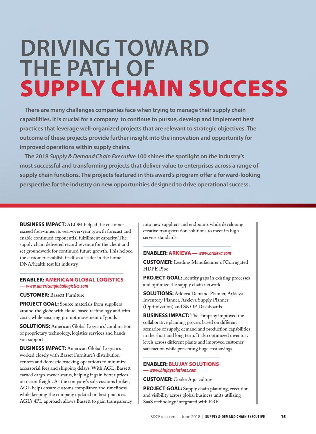 Supply & Demand Chain Executive June 2018 by Supply+Demand