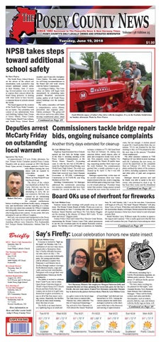 June 19, 2018 - The Posey County News by The Posey County News - issuu