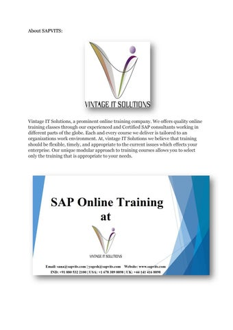 Sapvits sap online training pdf 48155686e