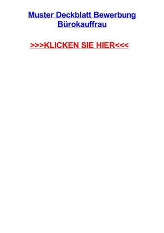 Muster Deckblatt Bewerbung Bjrokauffrau By Jennzkc Issuu