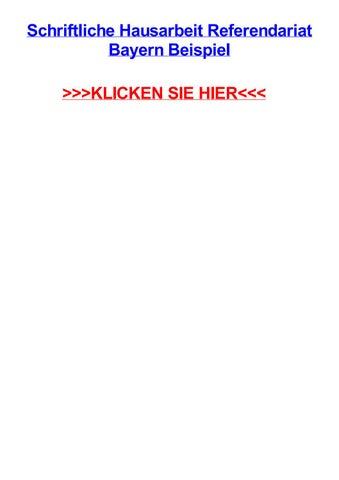 Schriftliche Hausarbeit Referendariat Bayern Beispiel By Steveuezec Issuu