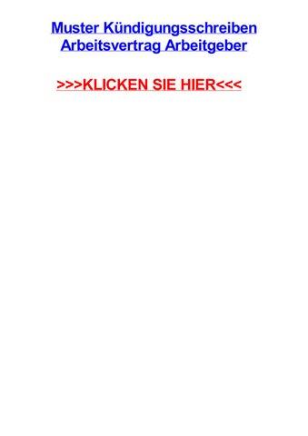 Muster kjndigungsschreiben arbeitsvertrag arbeitgeber by ...