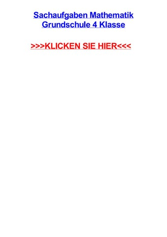 Sachaufgaben mathematik grundschule 4 klasse by aliciarmpm - issuu