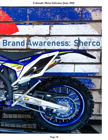 Page 19 of Sherco Motorcycles dealer in Colorado