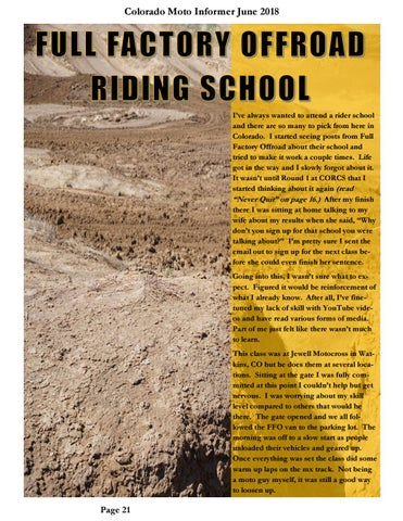 Page 21 of Full Factory Offroad riding school