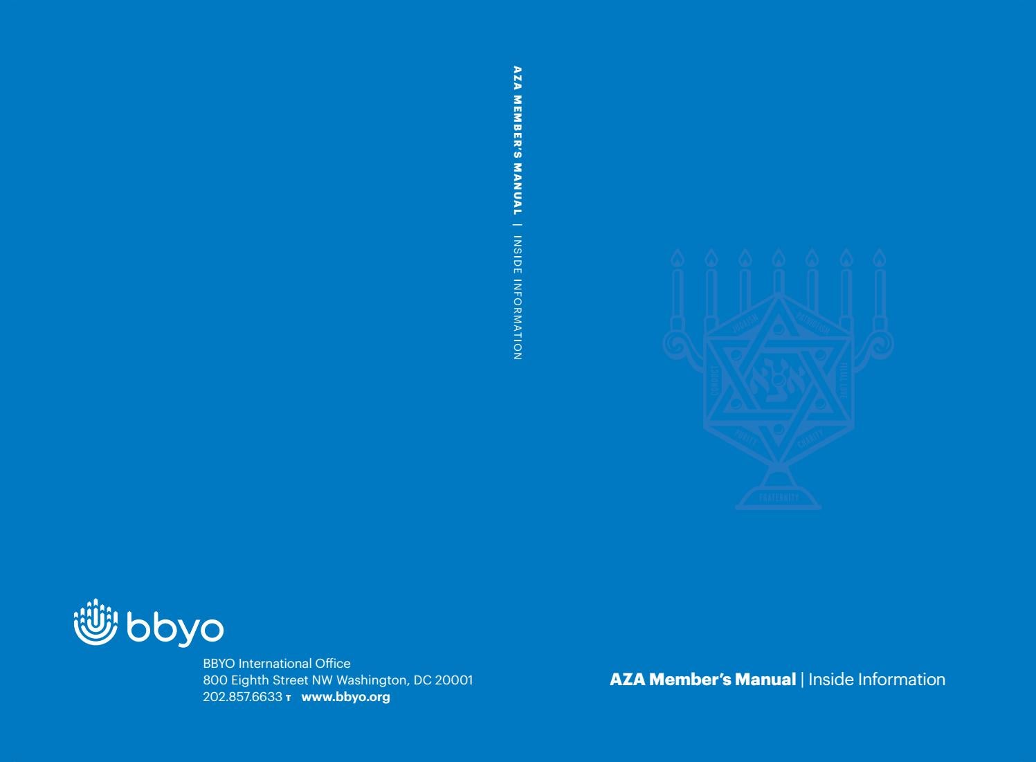 AZA Blue Blook | Inside Information by BBYO - issuu