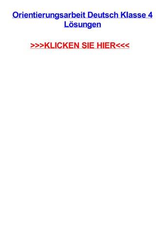 Orientierungsarbeit Deutsch Klasse 4 Lsungen By Christieygxjc Issuu