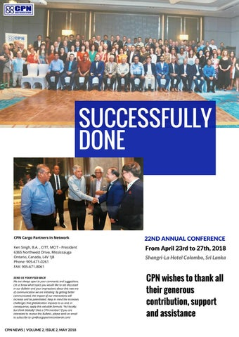 CPN NEWS | VOLUME 2, ISSUE 2, MAY 2018