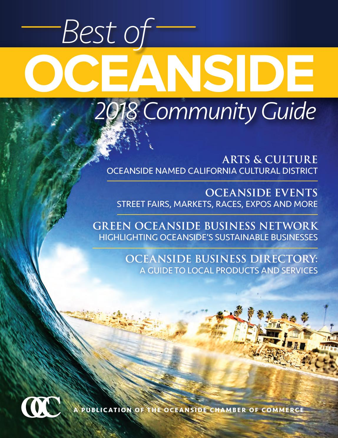 2018 Best of Oceanside Community Guide by Oceanside Chamber