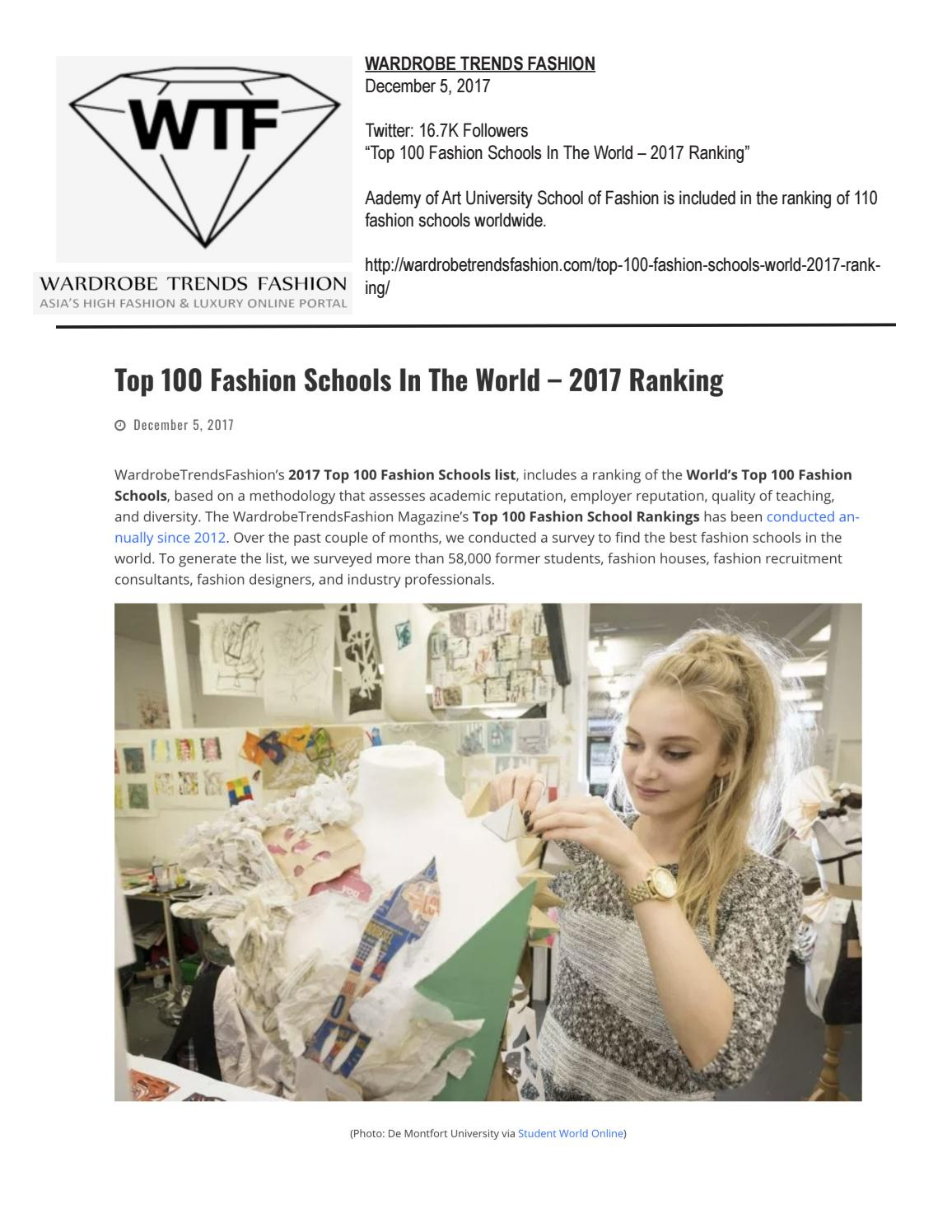 12 05 2017 Wardrobe Trends Fashion By Academy Of Art University School Of Fashion Issuu