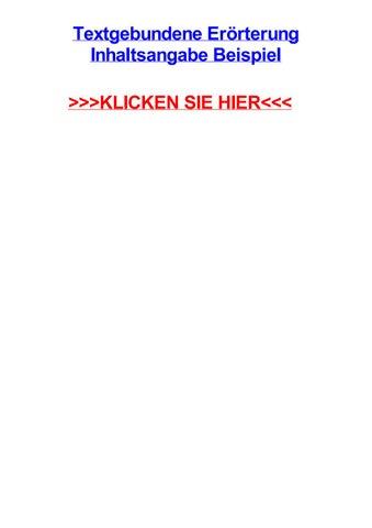 Textgebundene Errterung Inhaltsangabe Beispiel By Sigurdpvnqx Issuu