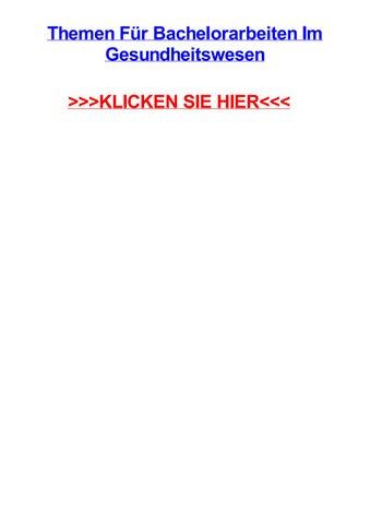 Themen fjr bachelorarbeiten im gesundheitswesen by margaritahgnbi ...
