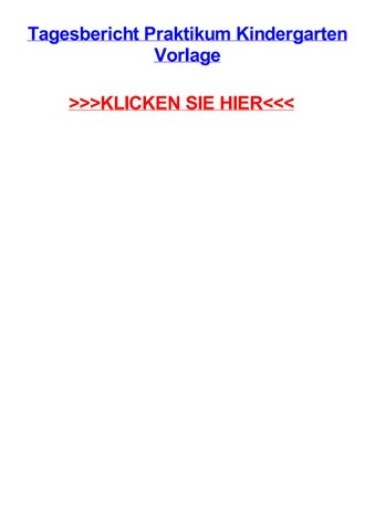 Informationsblatt Zur Anfertigung Der Praktikumsmappe