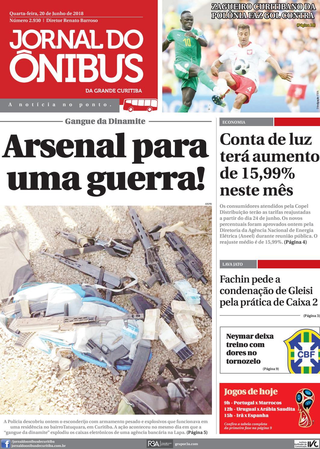Jornal do Ônibus de Curitiba - 20 06 18 by Editora Correio Paranaense -  issuu 1b469c23c13