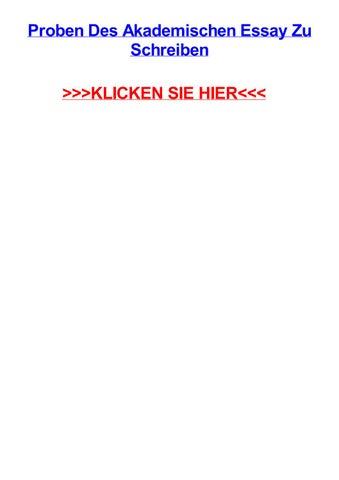Proben Des Akademischen Essay Zu Schreiben By Irenechxkd