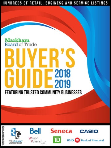 Markham Board of Trade - 2018 Buyers Guide by markhamboard