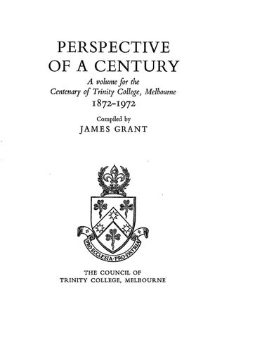 9aa9ee53c Perspective of a Century by Trinity College Collections - issuu