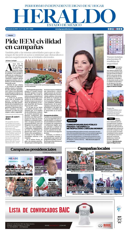 Miércoles 20 de junio 2018 by Heraldo Estado de México - issuu