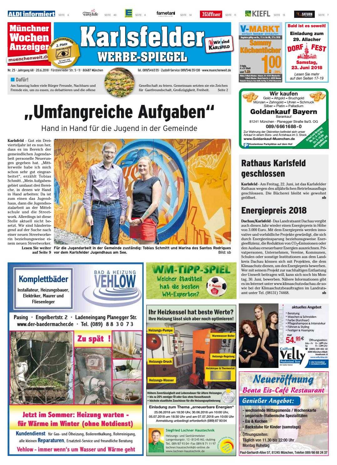 Kw 25 2018 By Wochenanzeiger Medien Gmbh Issuu