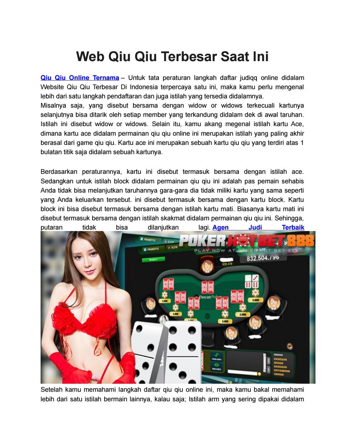 Web Qiu Qiu Terbesar Saat Ini By Claudia Tan Issuu