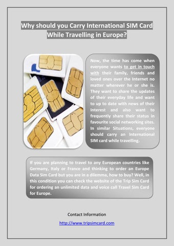 why should you carry international sim card while travelling in europe - Europe Travel Sim Card