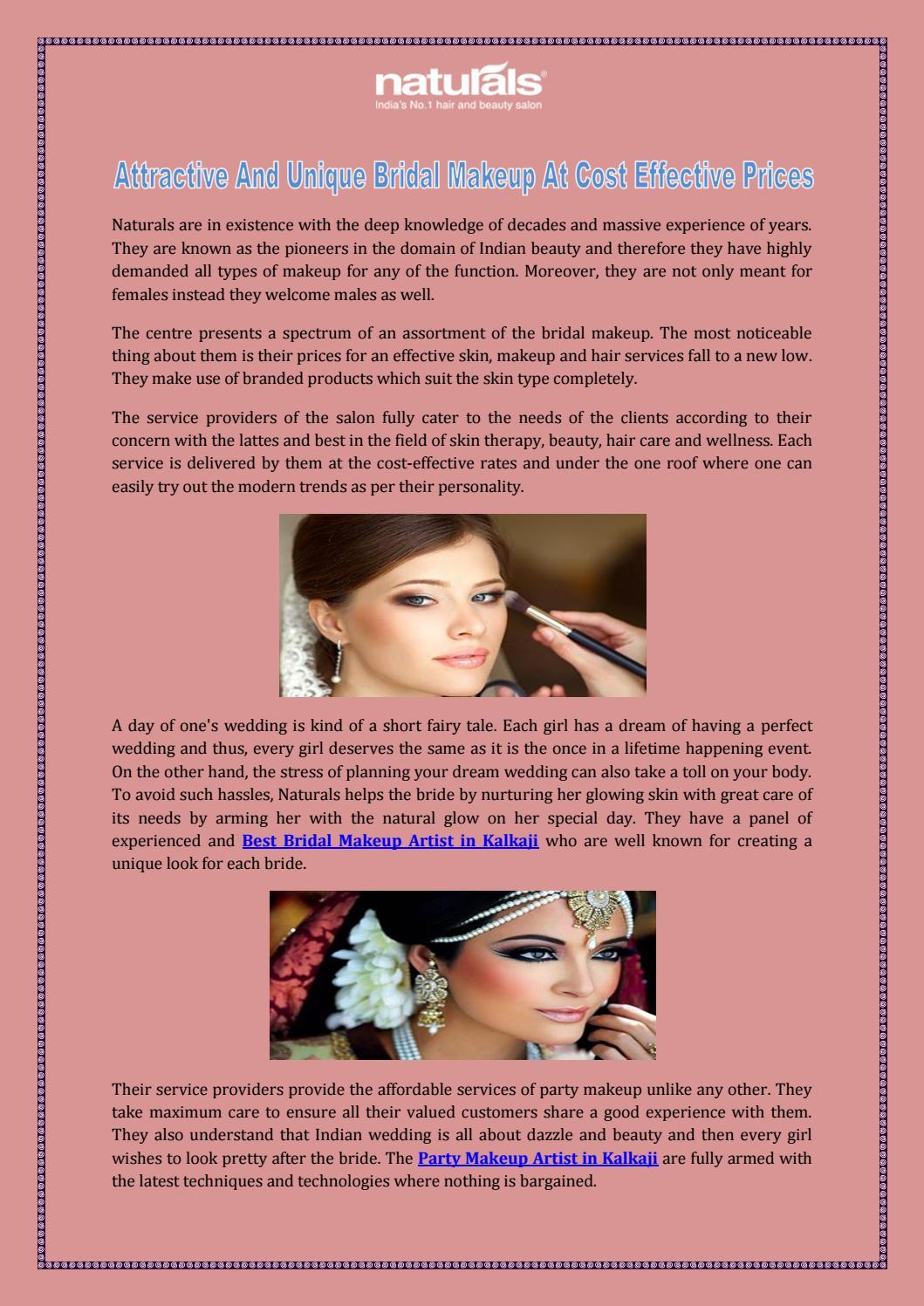Attractive And Unique Bridal Makeup At