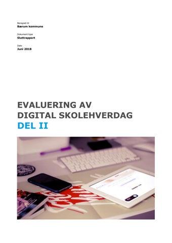 defd44bc Evaluering av digital skolehverdag delii by Bærum kommune - issuu