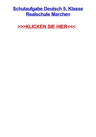 Schulaufgabe Deutsch 5 Klasse Realschule Marchen By