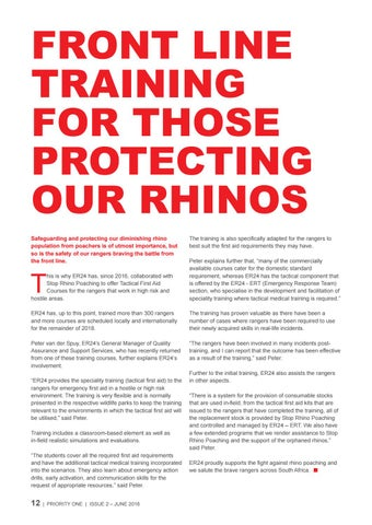 Page 12 of Front line training for those protecting our rhinos