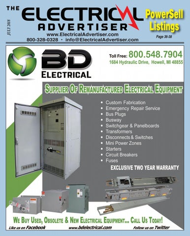July 2018 Electrical Advertiser by Electrical Advertiser - issuu Zinsco Mobile Home Pedestal Obsolete on