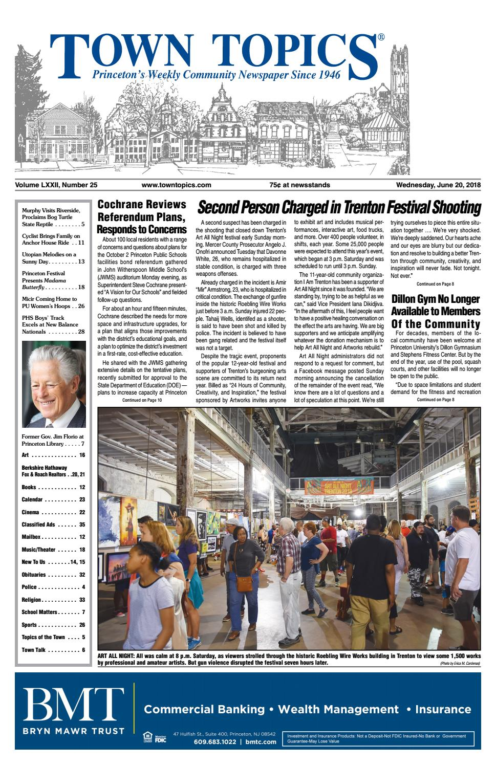 Town Topics Newspaper June 20, 2018 by Witherspoon Media Group - issuu
