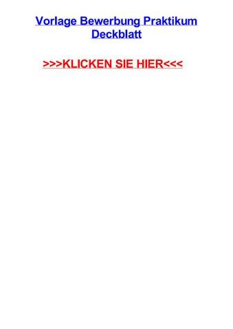Vorlage bewerbung praktikum deckblatt by michaelutwtr - issuu