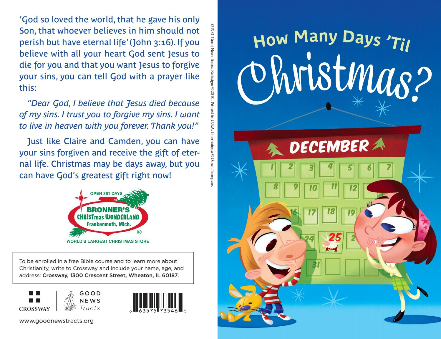 How Many Days Til Christmas.How Many Days Til Christmas By Crossway Issuu