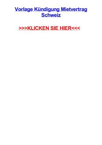 Vorlage Kjndigung Mietvertrag Schweiz By Jessicaawvji Issuu