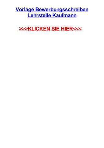 Vorlage Bewerbungsschreiben Lehrstelle Kaufmann By