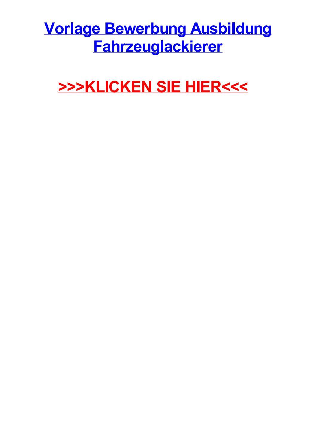 Vorlage bewerbung ausbildung fahrzeuglackierer by christophervvybb - issuu
