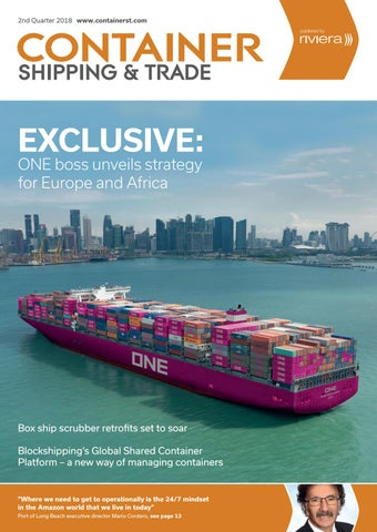 Container Shipping & Trade 2nd Quarter 2018 by