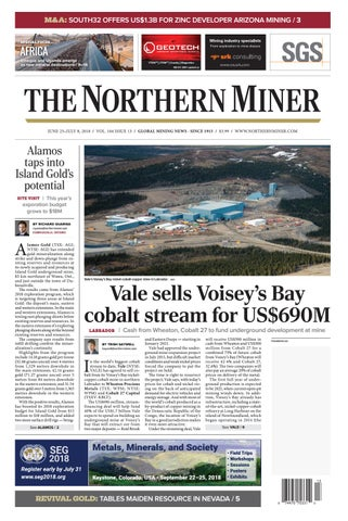 The Northern Miner June 25 2018 Issue by The Northern Miner