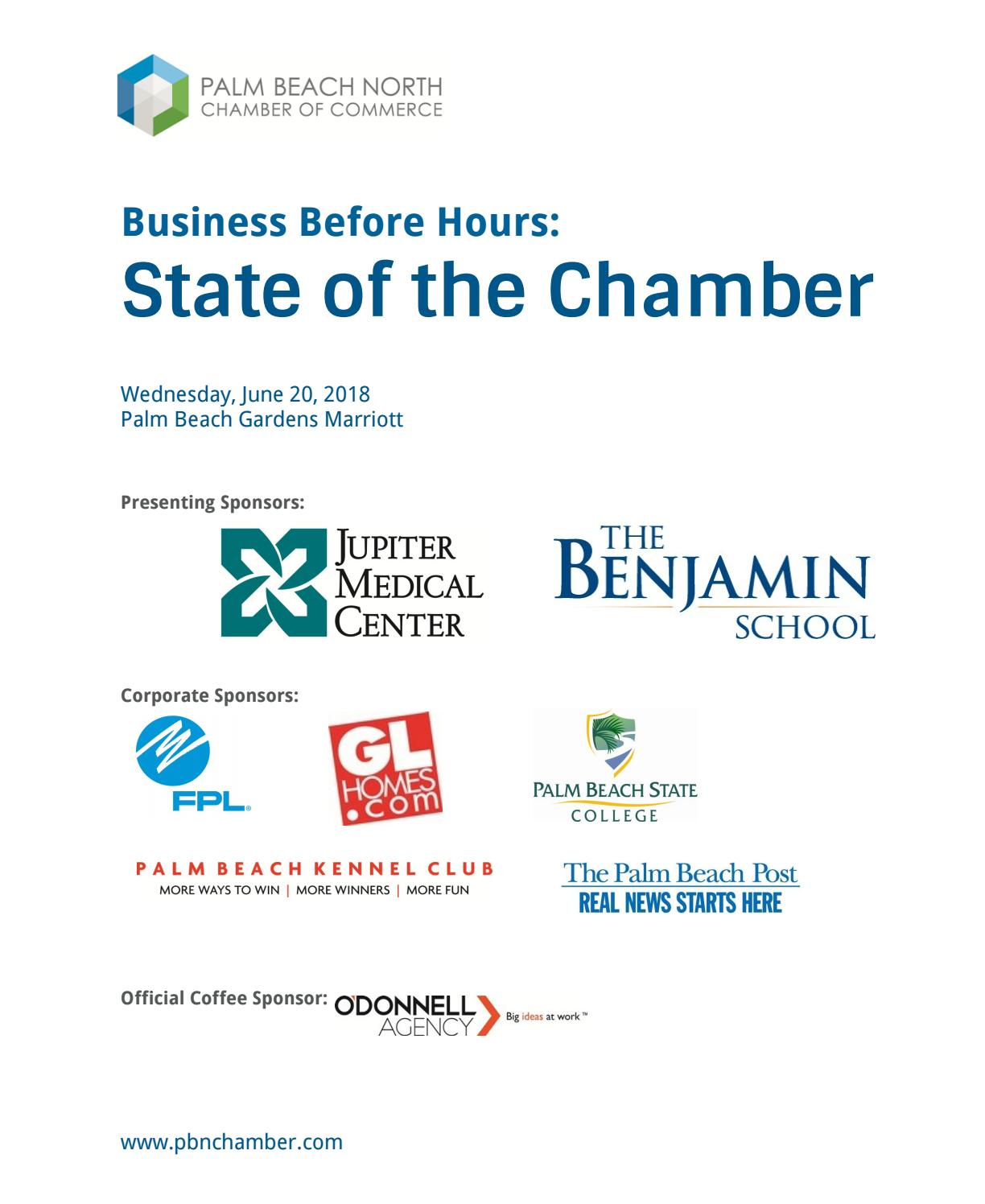 Business before hours state of the chamber june 2018 by - Velocity credit union palm beach gardens ...