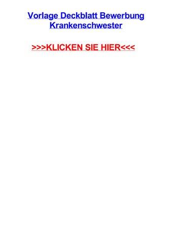 Vorlage Deckblatt Bewerbung Krankenschwester By Michaeldwlyg Issuu