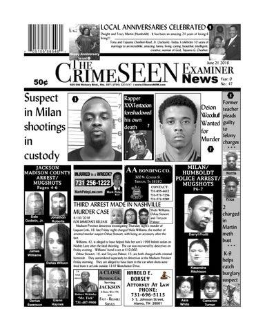 The CrimeSEEN Examiner News June 21, 2018 by CrimeSEEN Examiner - issuu