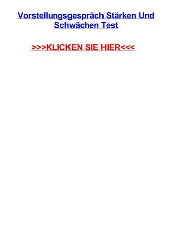 Vorstellungsgesprch Strken Und Schwchen Test By Laurenodtx Issuu