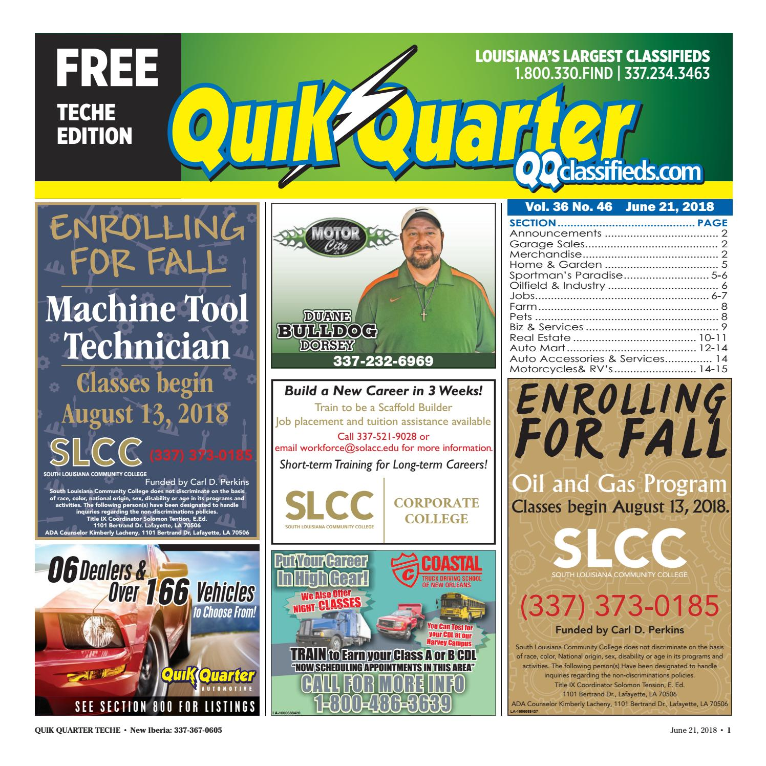 Qq Teche 06 21 2018 By Part Of The Usa Today Network Issuu