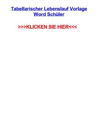 Tabellarischer Lebenslauf Vorlage Word Schjler By Coryrfkqe Issuu